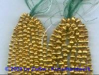 Hohlglasperlen, Ø 4 mm, 25 Stück gold
