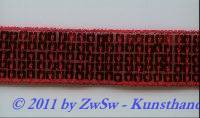 Pailletten-Borte 25mm breit, 50cm, rot