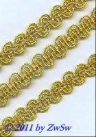 Häkelgimpe 10mm, gold, 1 Meter