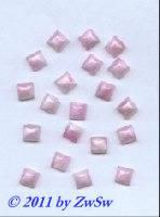 Muggel-Stein 1 Stück, 6mm x 6mm  (Rosenquarz)