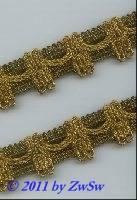 Borte 25mm in altgold mit gold