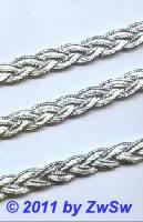 Lurexborte geflochten, 12mm in silber