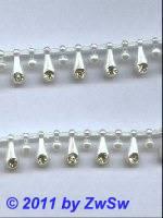 Perlenborte 13mm mit Strasssteinen, 50cm