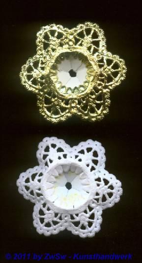 Mini-Blumenstraußrosette gold, Ø 5cm