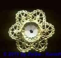 Blumenstraußrosette gold, Ø 16cm