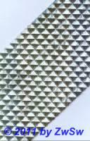 Strassappllikation silber 28 cm