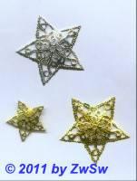 Metallstern, Ø 60mm, silber,  1 Stück