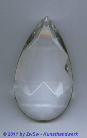 Lüstertropfen kristall, 9cm x 5cm