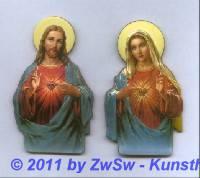 Herz Jesus & Herz Maria 1 Stück
