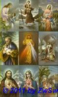 Heiligenbilder 10 verschiedene 6cm x 10cm