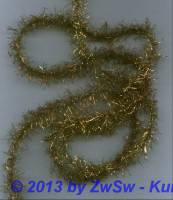 3,5 Meter goldener Tinsel