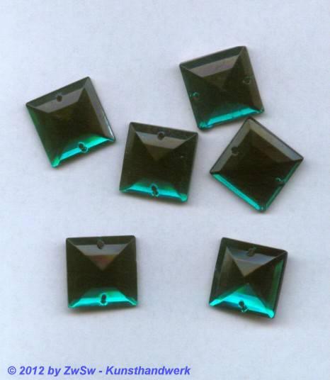 Strassstein, 1 Stück, 17mm x 17mm (emerald)