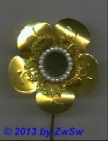 Metallfolienblume 1 Stück