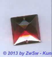 Strass-Quadrat, 25mm x 25mm, (rosa), 1 Stück
