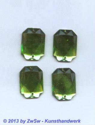 Octagon 18cm x 13mm, (hellgrün/peridot), 1 Stück