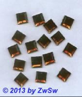 Strassstein, 12mm x 12mm, 1 Stück, dunkeltopas