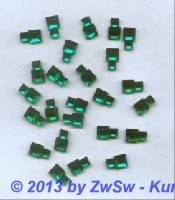 Strassstein, 10mm x 6mm, 1 Stück, smaragd