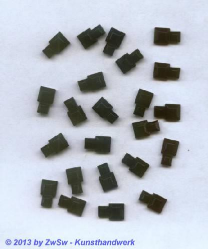 Strassstein, 10mm x 6mm, 1 Stück, schwarz