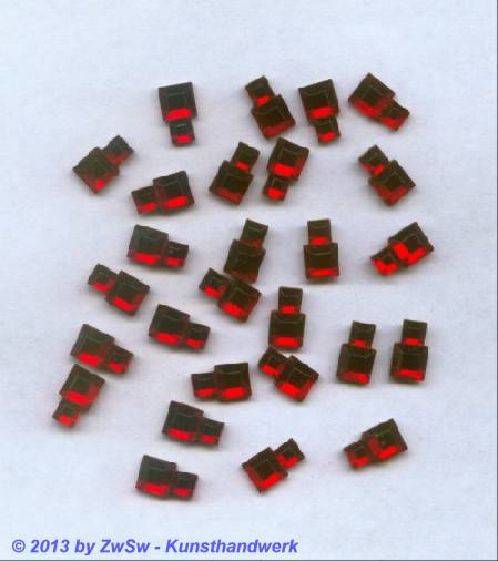 Strassstein, 10mm x 6mm, 1 Stück, rot