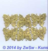 Schmetterling, gold, 35mm x 30mm