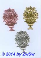 Blumenstrauß, gold, 45mm x 70mm