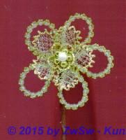 Bouillionblüte mit Perlen si/go, 6,5 cm
