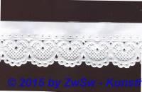 Schachtelborte weiß 3cm 1 Meter