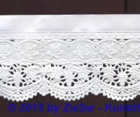 Schachtelborte 8,5cm weiß 1 m