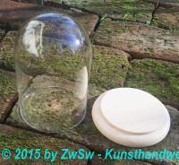 Glassturz-Glas, Höhe ca.11cm, ca.Ø 7,5cm