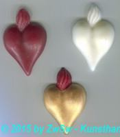 flammendes Herz; rot; ca. 2,8cm x 4,2cm