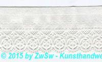 Schachtelborte 4,7cm weiß 1 m