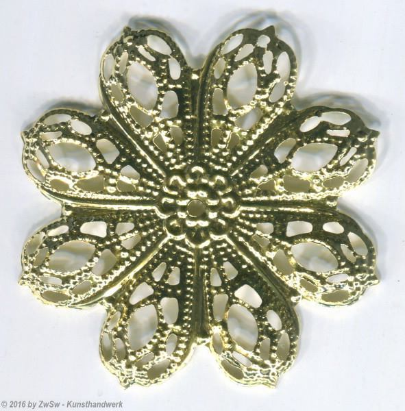 Rosette gewölbt gold  5 Stück, ? 43mm