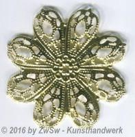 Rosette gewölbt gold  5 Stück, Ø 43mm