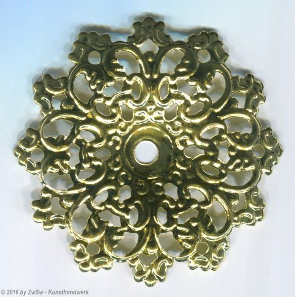 Metallrosette, 60mm, 5 Stück
