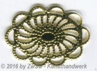 Metalloval 26mm x 19mm,  5 Stück,
