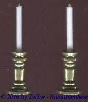 Metallkerzenleuchter 3,5cm,  2 Stück