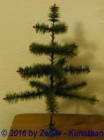 Federbaum grün 48cm Metallständer