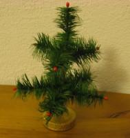 Federbaum grün 18cm Masseständer