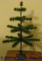Federbaum grün 56cm Metallständer