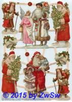 Altdeutscher Weihnachtsmann ohne Glimmer