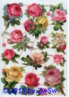 Gefüllte Rosen ohne Glimmer