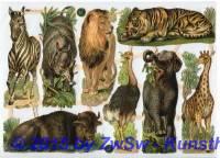 Tiere der Savanne ohne Glimmer