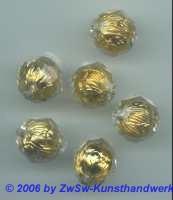 Perle in der Perle gold 1 Stück