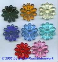 Blume schwarz Acrylglas, 4,5 cm