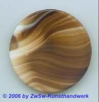 Glasplatte (braun/weiß)  Ø 50mm