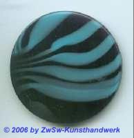 Glasplatte schwarz/blau  Ø 50mm