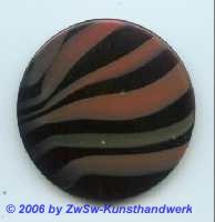 Glasplatte Schwarz/rostrot  Ø 50mm