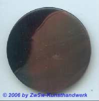 Glasplatte rostrot/schwarz  Ø 50mm