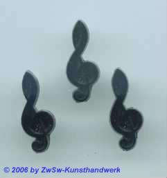 Fiolinschlüssel schwarz Höhe 20mm
