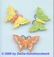 Schmetterlinge 3 Stück, 38mm x 22mm